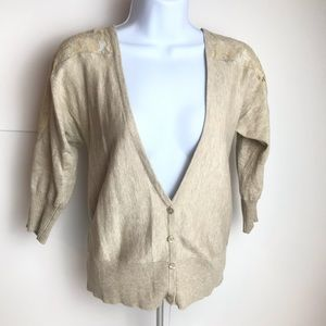 Mossimo aoft cardigan sweater with lace nice!